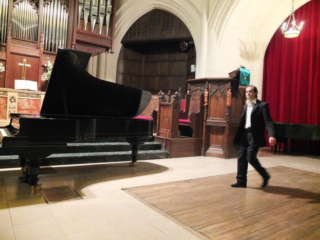 récital à l'église américaine, le 5 février 2012
