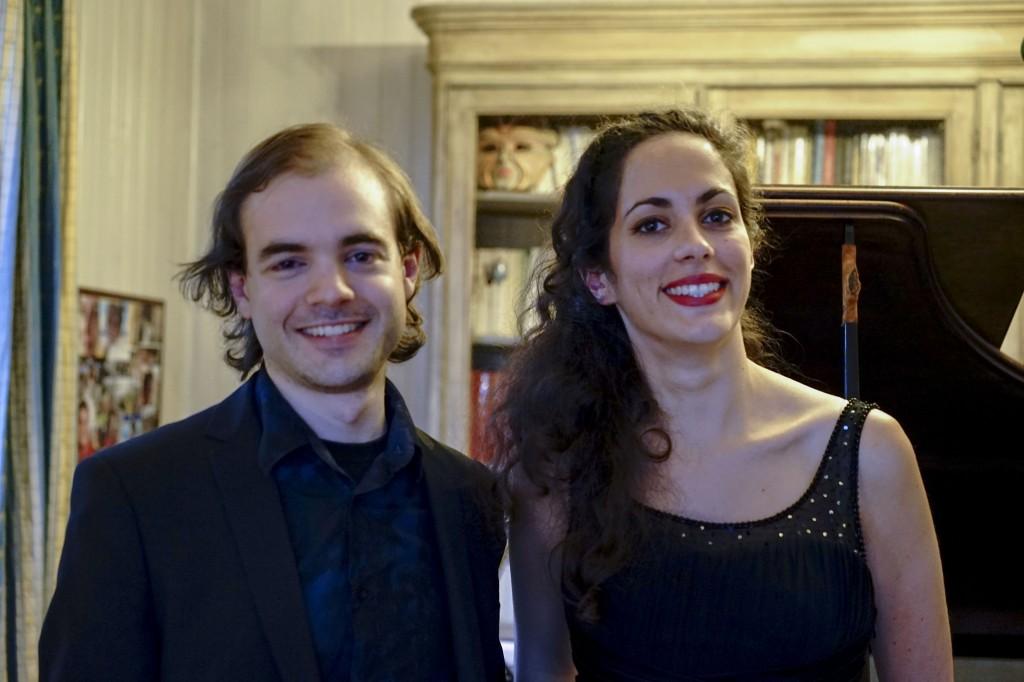 avec Harmonie Deschamps, lors d'un concert privé à Colombes le 9 juillet 2014