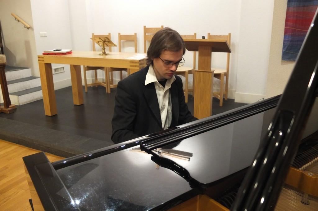 avant-récital à la Scots Kirk, le 14 janvier 2012