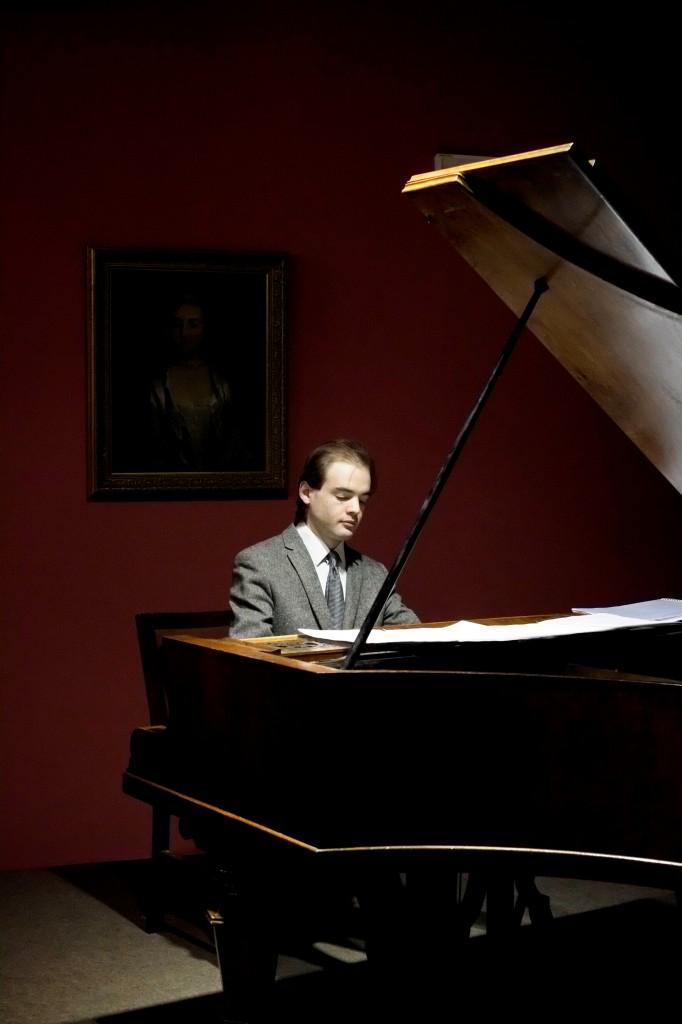 en récital au musée de la Silésie d'Opole, le 11 janvier 2015, sur piano viennois Schweighofer (ca. 1870)