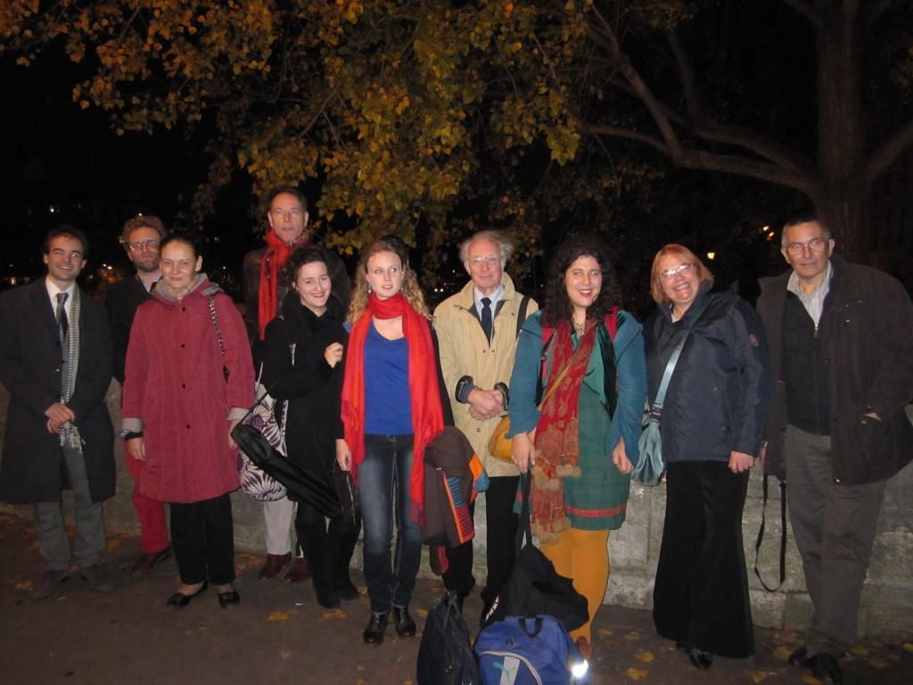 concert Théophile Gautier de 25 novembre 2014, partagé avec Marie Soubestre, Alice Fagard, L'Oiseleur des Longchamps et Clotilde Bernard, en compagnie de 4 des compositeurs