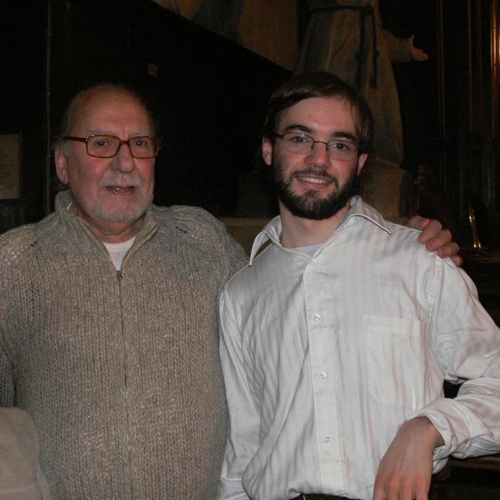 après-récital solo à la cathédrale Sainte-Croix des Arméniens, le 5 novembre 2006 - avec Jean Martin
