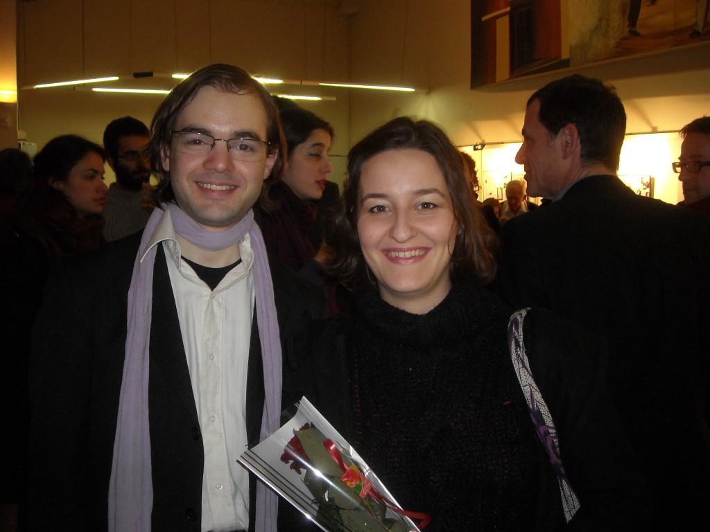 avec Marie Soubestre, après un concert-lecture autour de Théophile Gautier, avec DIdier Sandre, à Mériel le 5 février 2011