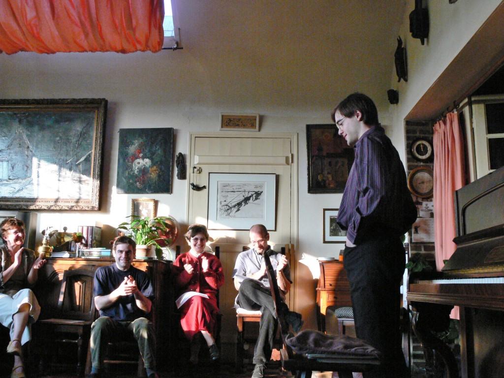 chez Godelieve Vlaminck à la Tourillière (maison de Maurice de Vlaminck), le 22 avril 2006