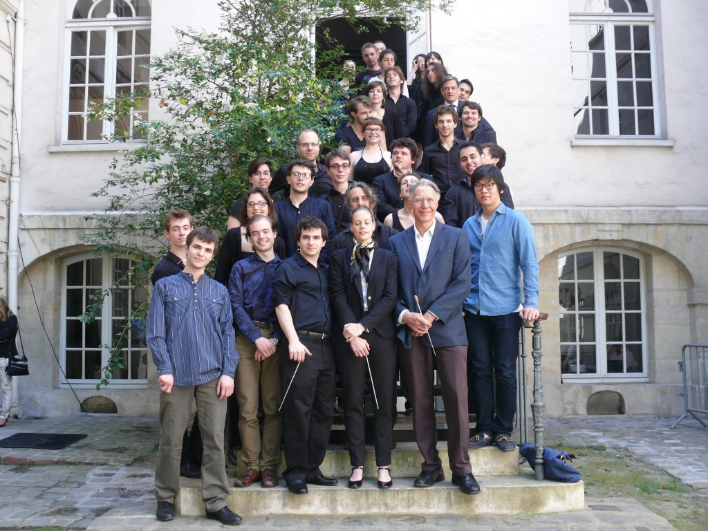 avec la classe de direction d'orchestre d'Adrian McDonnell, à la Schola cantorum le 7 juin 2014