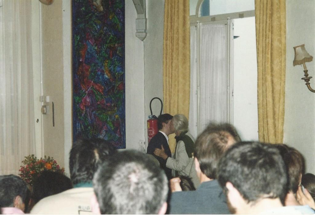 récital au Moulin d'Andé, le 5 décembre 2004 - félicité par Suzanne Lipinska, l'hôte du lieu !